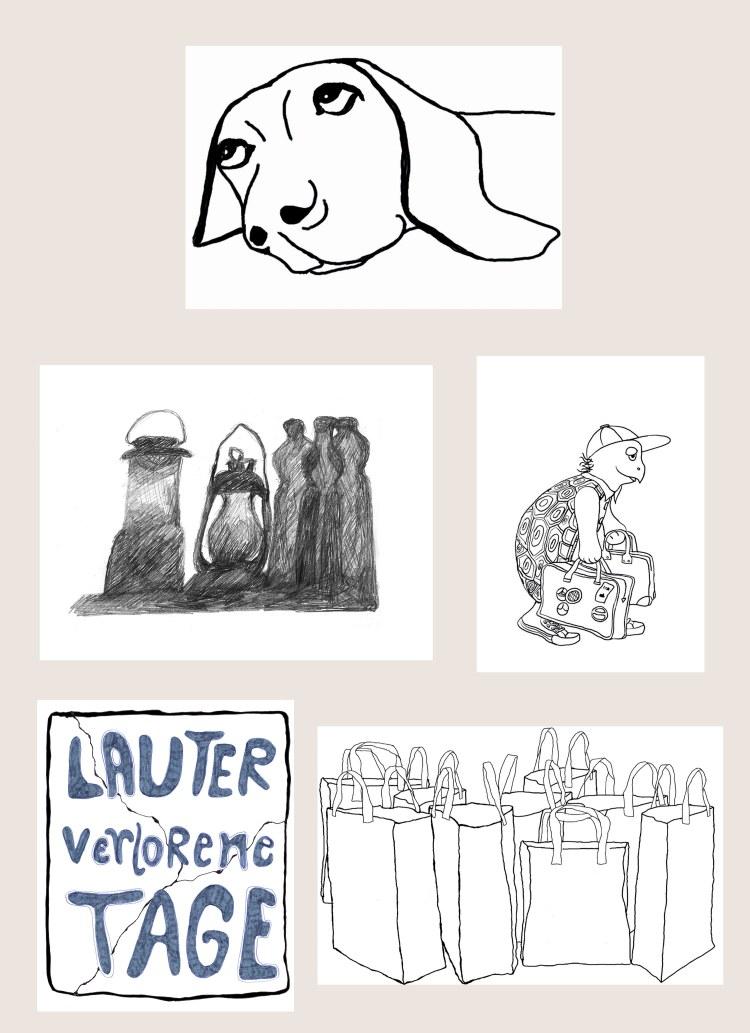 illustration ulrike spang hund schildkröte
