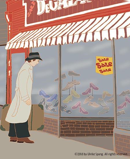 ulrike spang illustration zeichnung schuhe einkaufen artwork sale