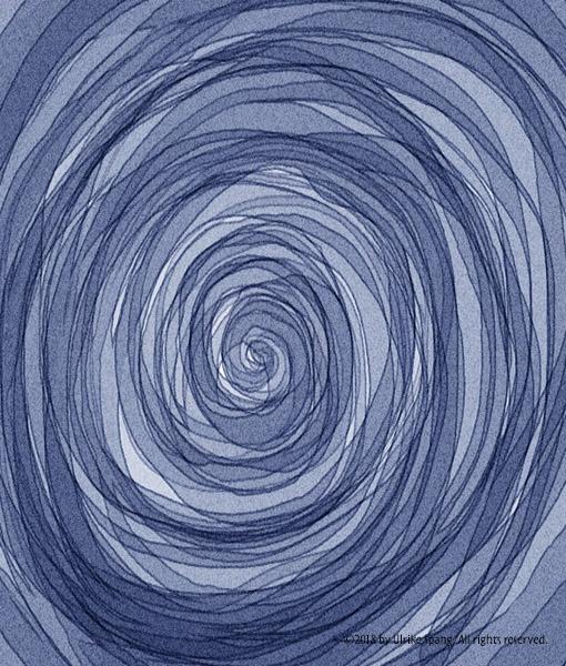 blau spirale illustration ulrike spang