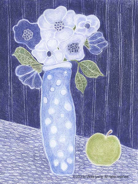 illustration artwork ulrike spang blumen
