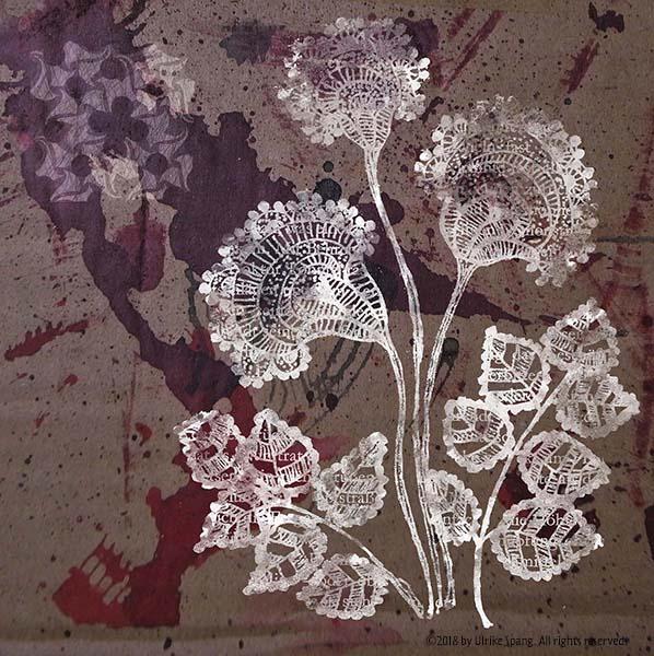 ulrike spang illustration winter blumen grafik