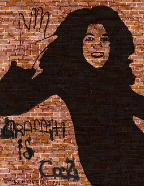 ulrike spang graffiti gruß mädchen zeichnung illustration artwork