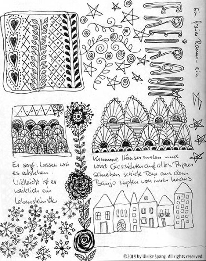 ulrike spang illustration doodle lebenskünstler freiraum