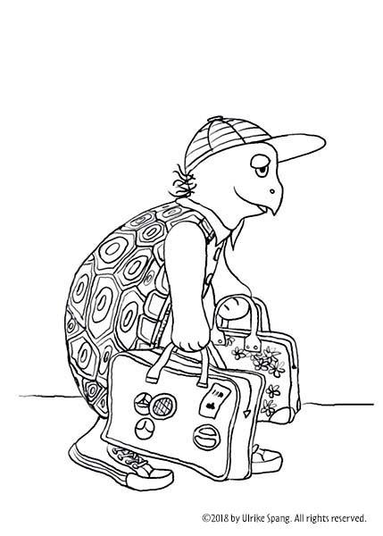 ulrike spang illustration schildkröte artwork koffer zeichnung