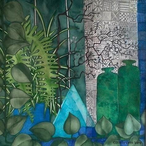 ulrike spang illustration blumenfenster malerei aquarell