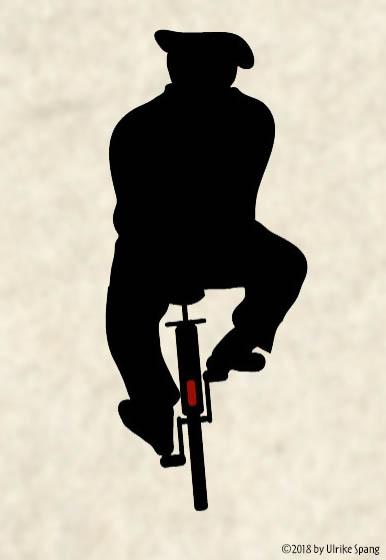 ulrike spang illustration zeichnung radfahrer