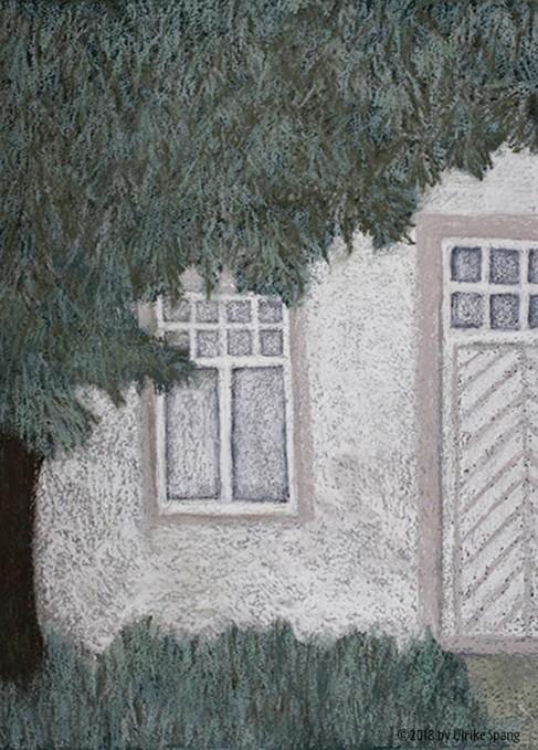 ulrike spang illustration haus pastellkreide malerei