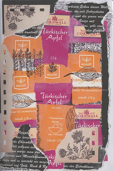 ulrike spang illustration collage tee teatime