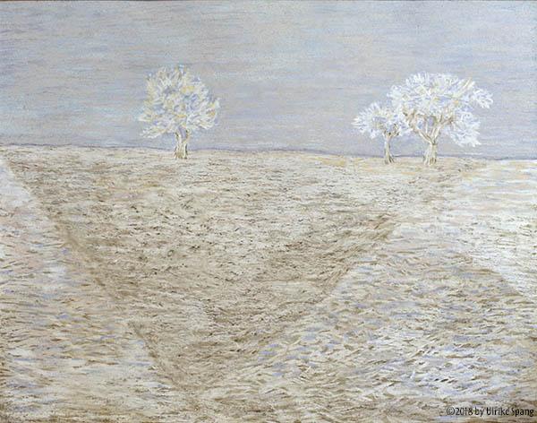 ulrike spang illustration schnee landschaft