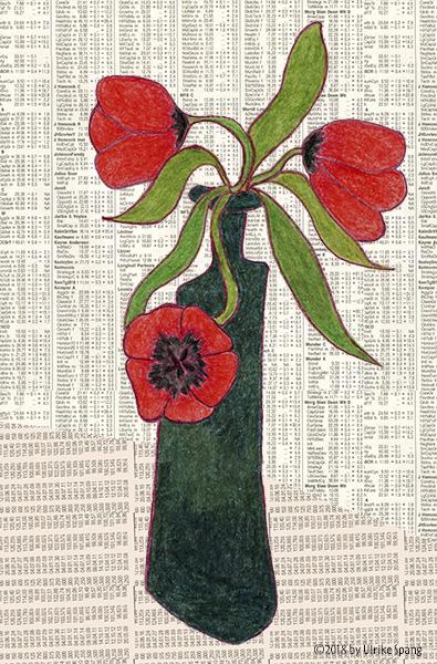 Ulrike Spang Illustration Tulpen Rot