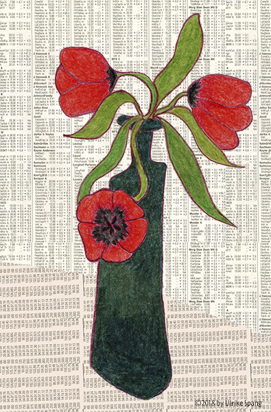 Ulrike Spang Illustration Tulpen Rot