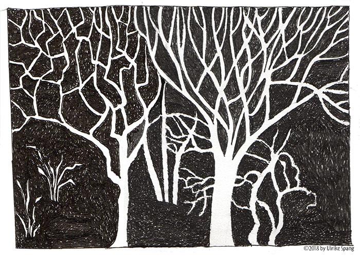 ulrike spang illustration bäume