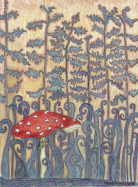 ulrike Spang illustration Zauberwald pilz