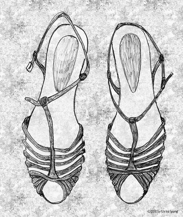 ulrike spang illustration schuhe