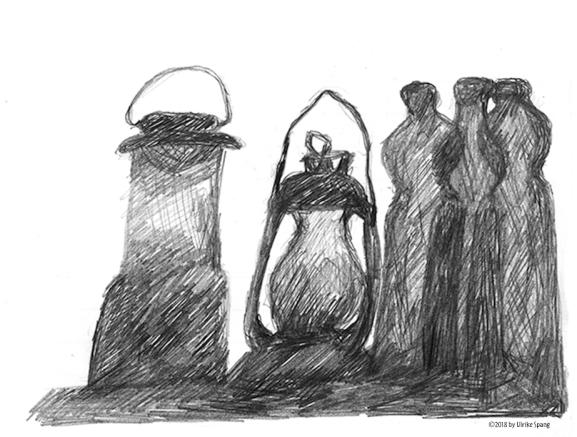 Ulrike Spang Illustration Laternen Flaschen