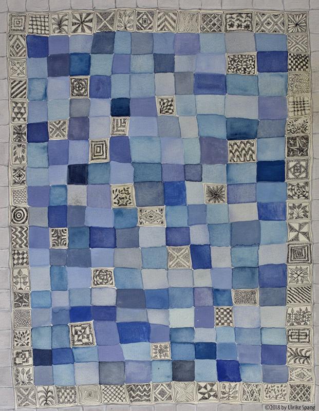 ulrike spang illustration blau